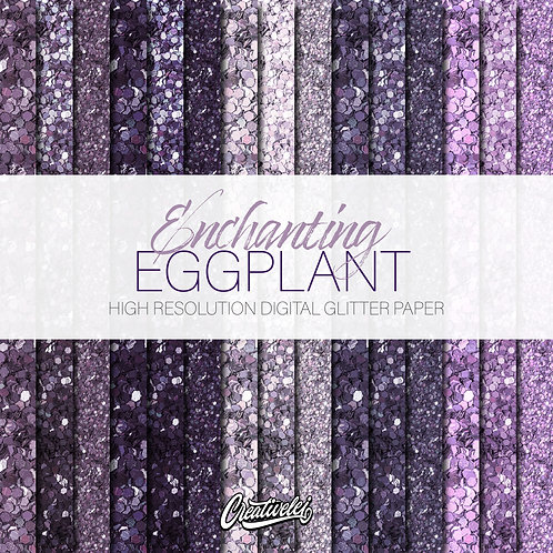 Enchanting Eggplant Digital Paper