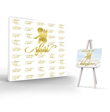 Back Drop & Welcome Sign