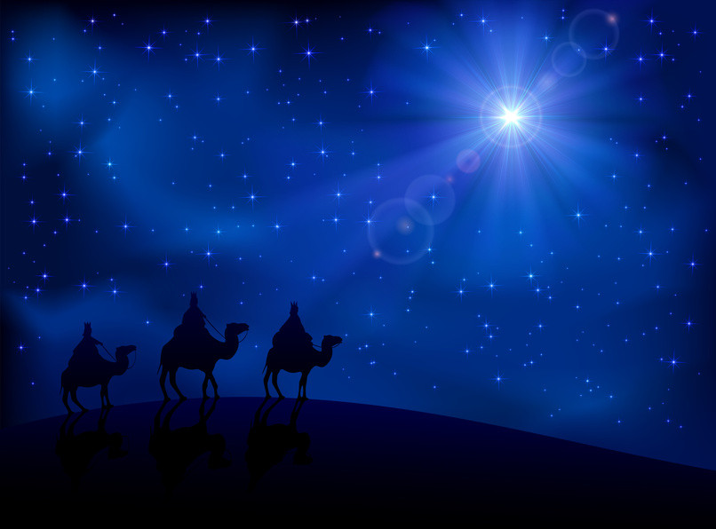 Three Wise Men and Star of Bethlehem