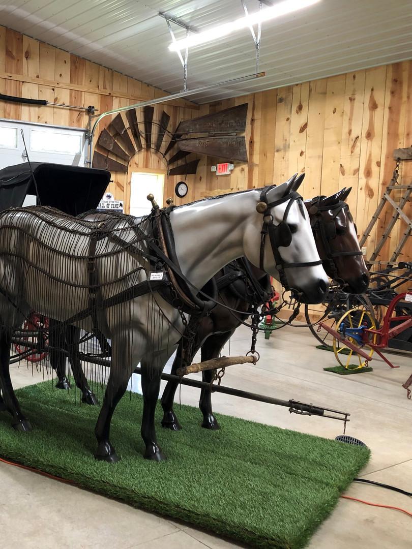 Molly, Jip and mail wagon.jpg