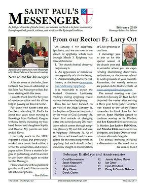 February Messenger - St. Paul's Episcopa