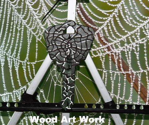 Wood Key Holder Art Piece
