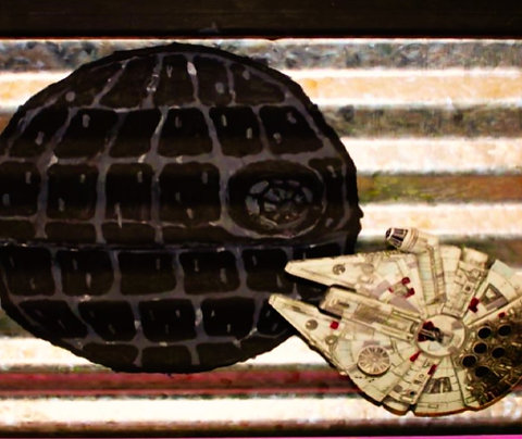 Death Star & Millennium Falcon