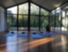Dharma Yoga is held in a private studio in Palo Alto, California