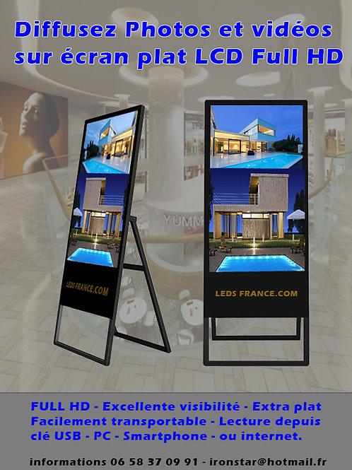 ECRAN PUBLICITAIRE FULL HD 43 pouces - 109 cm