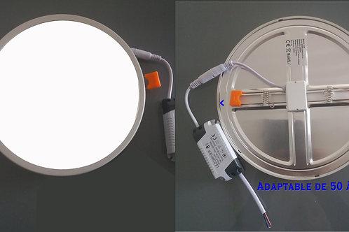 Pavé led 18 W - AJUSTABLE de 50 à 205 mm 19.80 € (vendu en lot de 5 pièces)