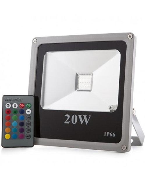 Projecteur led 20 watts Changement de Couleurs