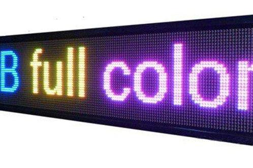 ENSEIGNE LED DYNAMIQUE RGB 192 X 38 CM