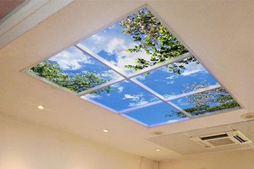 Kit 6 panneaux leds - 60 x 60 cm Décor plein ciel