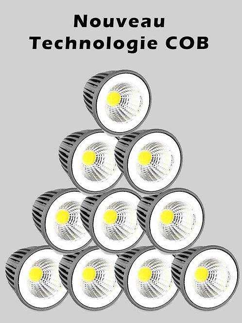 Lot de 12 Ampoules led 5 watts MR16 - 12 V