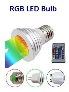 Ampoule led RGB 3 watts