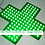 Thumbnail: CROIX PHARMACIE SIMPLE FACE INTERIEUR 30 X 30 cm