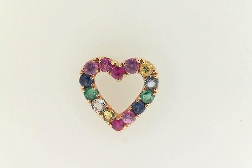 multicolor gemstone Heart