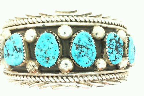 wide 8 stone cuff