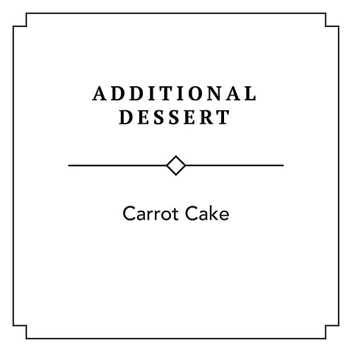 Carrot Cake (Additional)