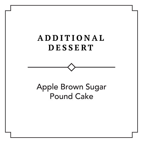 Apple Brown Sugar Pound Cake (Additional)