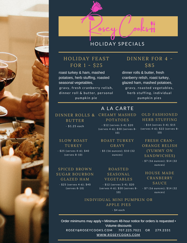 Holiday Addition Menu