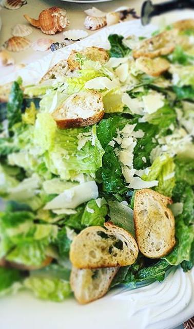 Chilled Caesar Salad on a warm Spring Af