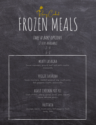 Frozen Meals Menu