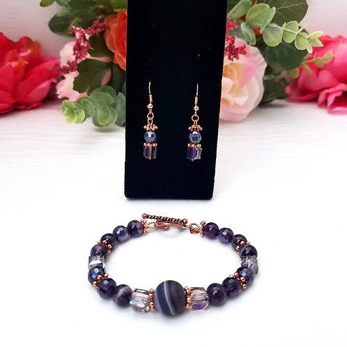 Vino: Earrings & Bracelet
