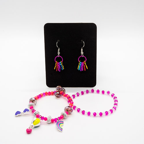 Rainbow: Earrings & Bracelets