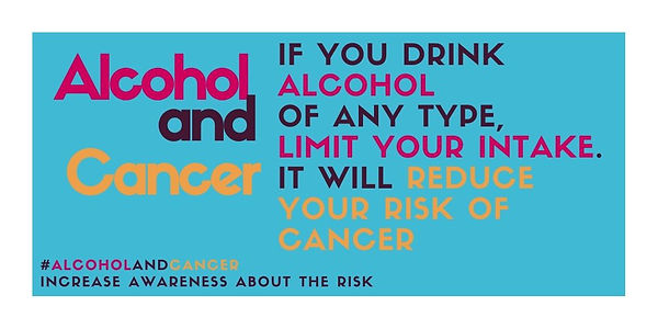 Alcohol and Cancer blue improved message