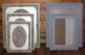 Vintage silver and grey picture frames.j
