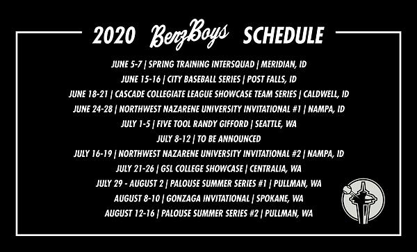 2020 Benz College Prep Schedule