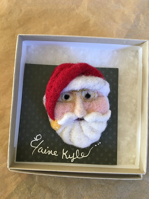 Santa face brooch