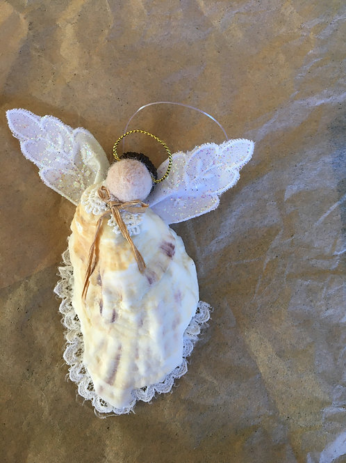 Oyster shell angel ornament-1