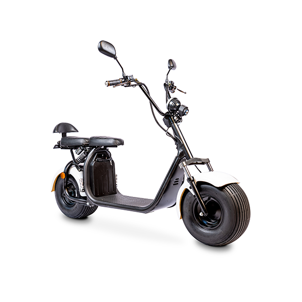 Elektrische-scooter-schuin-wit