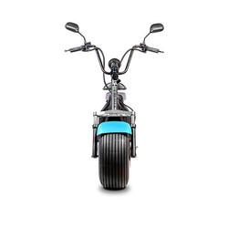 Elektrische-scooter-voorkant-blauw