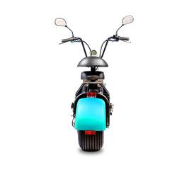 Elektrische-scooter-achterkant-blauw