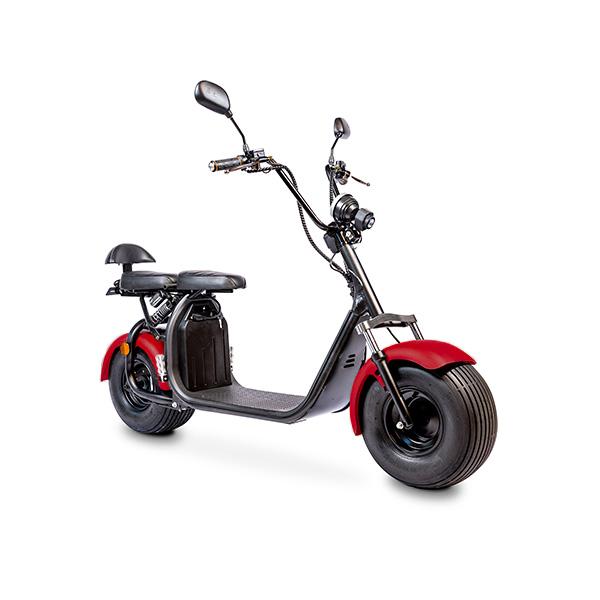Elektrische-scooter-schuin-rooddonker