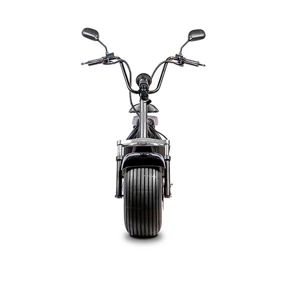 Elektrische-scooter-voorkant-zwart-glimm