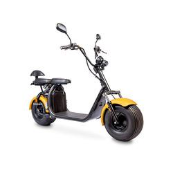 Elektrische-scooter-schuin-geel