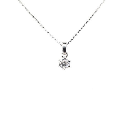 Moissanite Necklace (0.2ct)