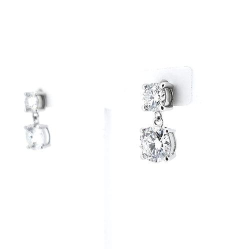 Moissanite earrings 2.3ctw