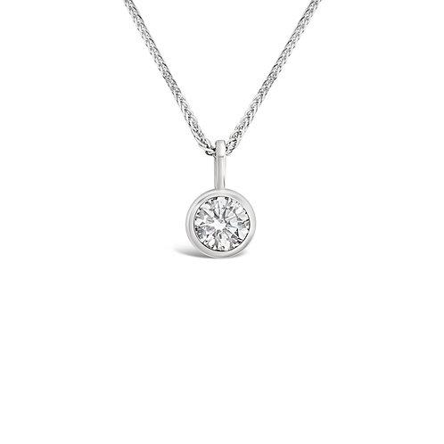 Moissanite 18K Necklace 0.35ct