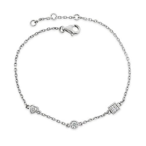Moissanite 18K bracelet 0.38ctw