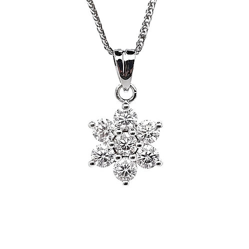 Moissanite Necklace 0.7ctw