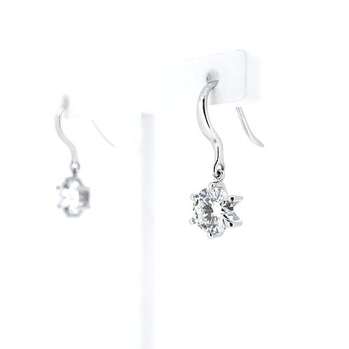 Moissanite earrings 1.6ctw
