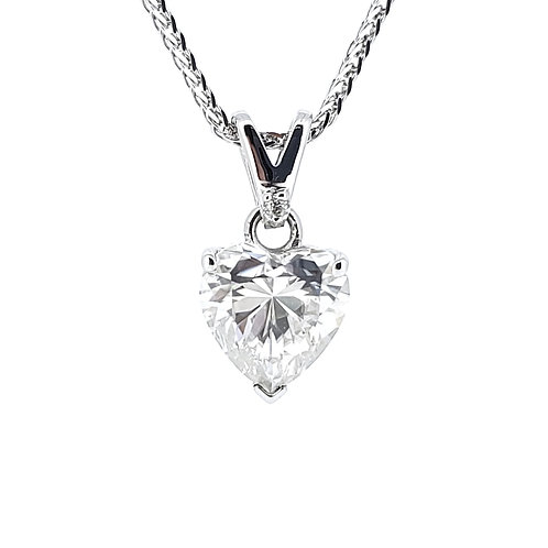 Heart-shaped Moissanite Necklace 1ct