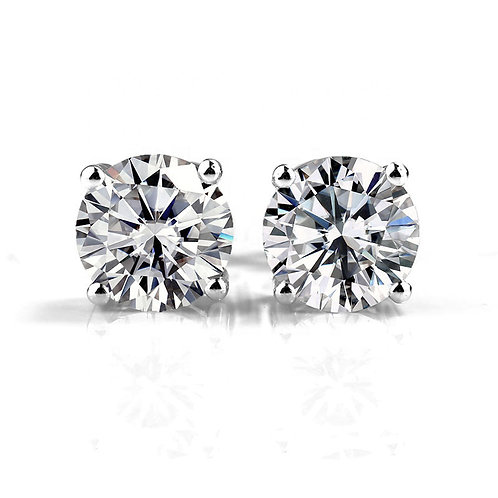 Moissanite four prongs earrings 2ctw
