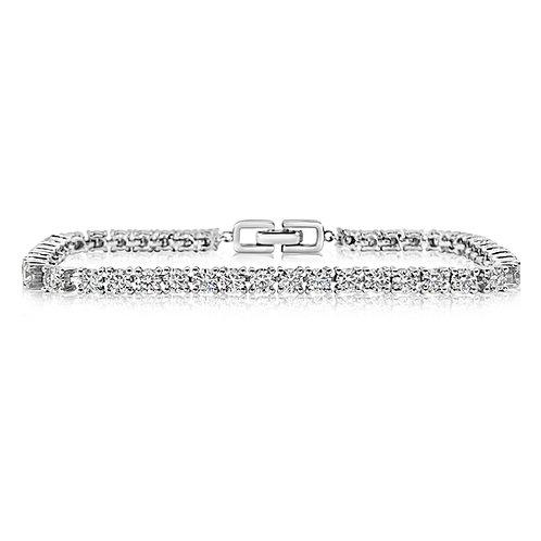 Moissanite 18K bracelet 4.1ctw