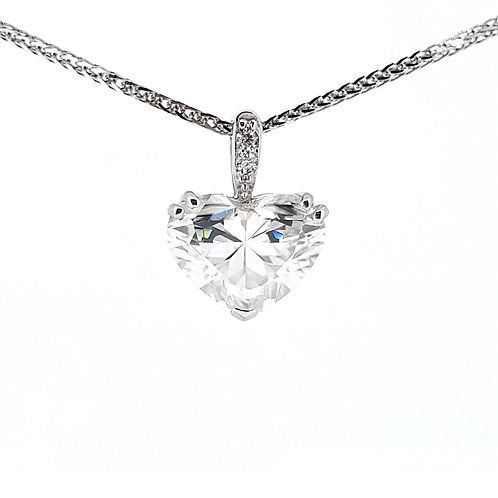 Heart-shaped Moissanite Necklace 0.7ct