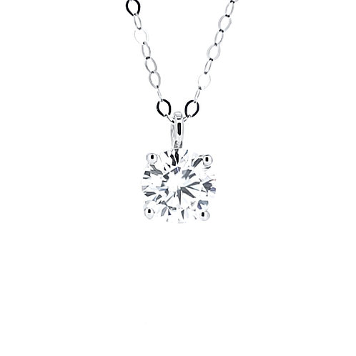 Moissanite necklace 0.8ct