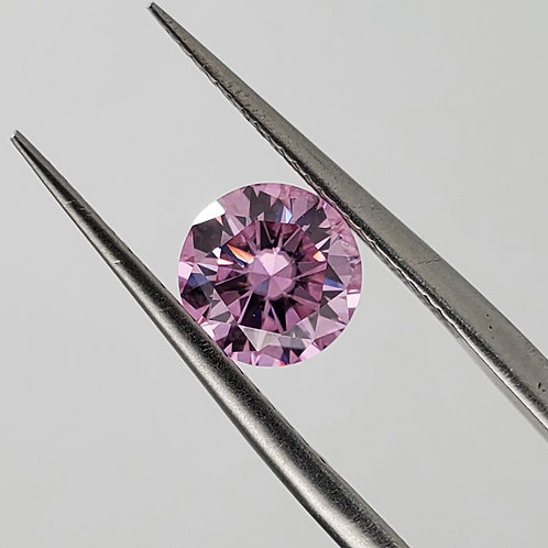 Purplish pink moissanite 1ct