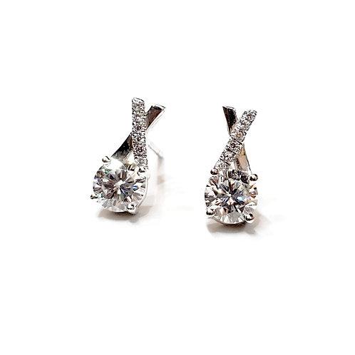 Moissanite Earrings 1.1ctw