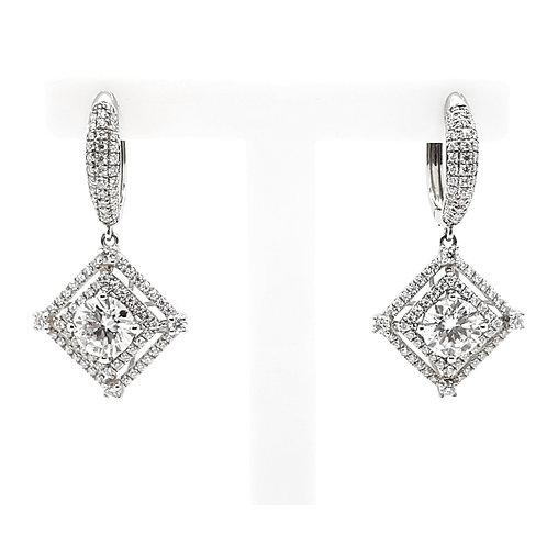 Moissanite earrings 2.2ctw